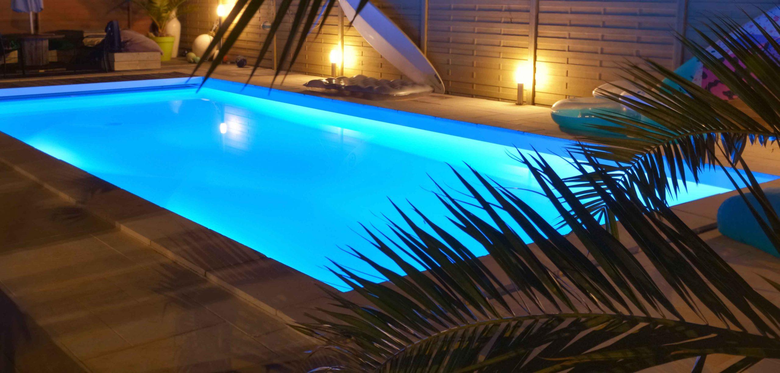 Iluminación en piscinas